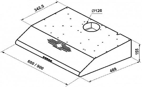 Козырьковая вытяжка KHT 6334 X